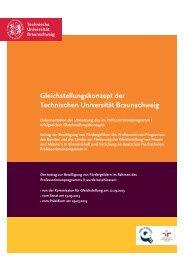 Gleichstellungskonzept - Technische Universität Braunschweig