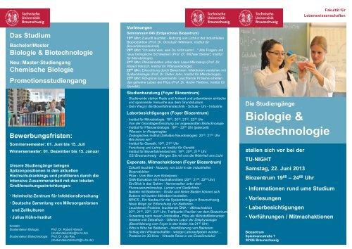 Flyer als PDF - Technische Universität Braunschweig