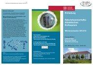 Unser Flyer für das Naturwissenschaftsdidaktische Kolloquium