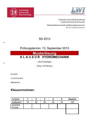 Musterlösung Aufgabe 1 - Technische Universität Braunschweig