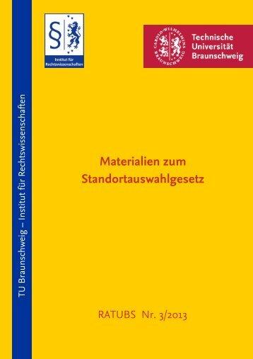 Materialien zum Standortauswahlgesetz - Technische Universität ...