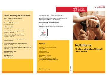 Flyer Notfallkarte Pflege TU BS (pdf, 4 MByte) - Technische ...