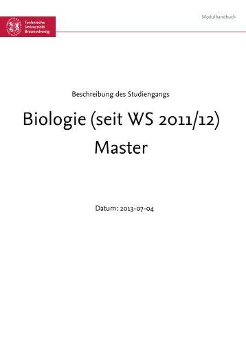 Modulhandbuch WiSe 13/14 - Technische Universität Braunschweig