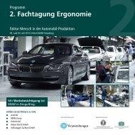 2. fachtagung ergonomie - Technische Universität Chemnitz