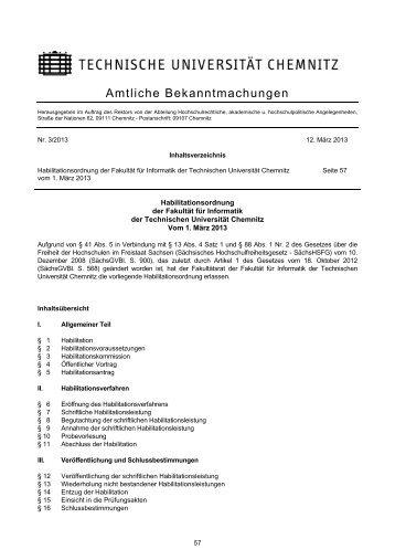 Habilitationsordnung - Technische Universität Chemnitz