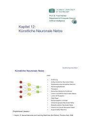 Kapitel 12: Künstliche Neuronale Netze