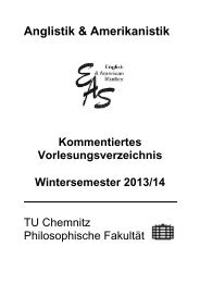 Anglistik & Amerikanistik - Technische Universität Chemnitz