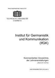 Wintersemester 2012/2013 - Technische Universität Chemnitz