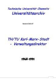 Verwaltungsdirektor - Technische Universität Chemnitz