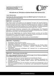 Informationen zur Teilnahme am National Model United Nations ...