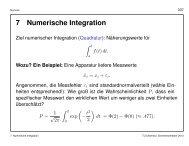 7 Numerische Integration - TU Chemnitz