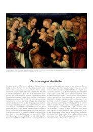 Christus segnet die Kinder
