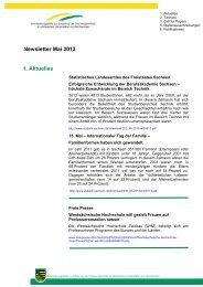 Newsletter der Koordinierungsstelle zur Förderung ... - TU Chemnitz
