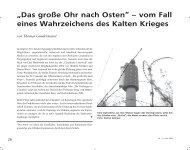 """""""Das große Ohr nach Osten"""" – vom Fall eines ... - TU Clausthal"""