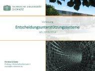 Entscheidungsunterstützungssysteme - TU Chemnitz