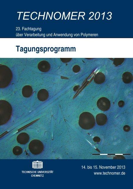 TECHNOMER 2013 - Technische Universität Chemnitz