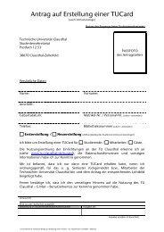 Antrag auf Erstellung einer TUCard - incl ... - TU Clausthal