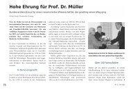 Hohe Ehrung für Prof. Dr. Müller