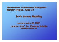 Earth System Modelling