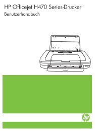 HP Officejet H470 Series Printer User Guide ... - Hewlett Packard
