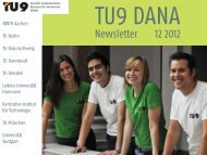 TU9 DANA Newsletter 12/2012