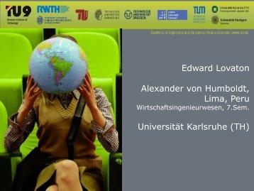 Edward Lovaton (PPT, 1MB) - TU9