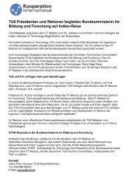 TU9 Präsidenten und Rektoren begleiten Bundesministerin für ...