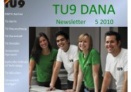 TU9 DANA Newsletter 01/2010