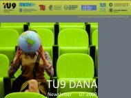 TU9 DANA Newsletter 02/2009