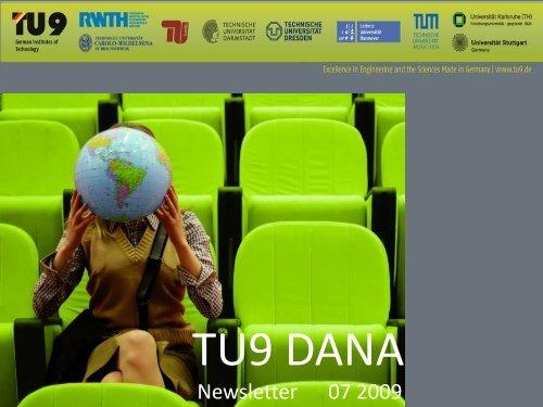 TU9 DANA Newsletter 02/2009