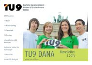 TU9 DANA Newsletter 2 2013