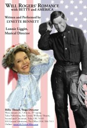 WILL ROGERS' ROMANCE with BETTY and ... - TUAlumni.com