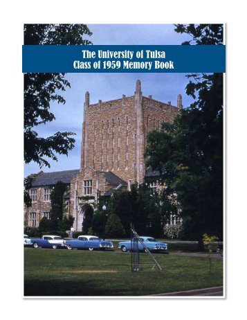 The University of Tulsa Class of 1959 Memory Book - TUAlumni.com