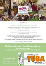 11. Internationaler Fortbildungskursus International ... - Tubaforum