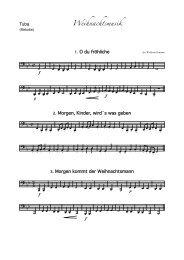 Weihnachtslieder Melodie - Tubaforum