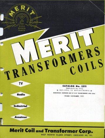 Merit Transformer Catalog