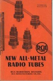 New All-Metal Radio Tubes - tubebooks.org