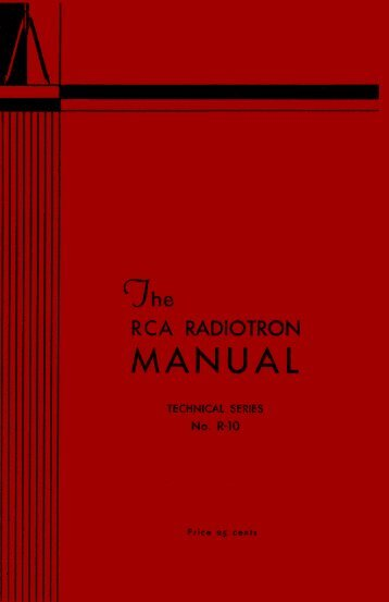 1932 RCA R-10 Tube Manual - tubebooks.org