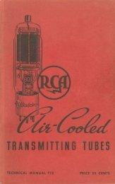 RCA Air-Cooled Transmitting Tubes TT-3