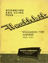 Assembling and Using your Heathkit