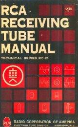 1961 RCA RC-21 Receiving Tube Manual - tubebooks.org
