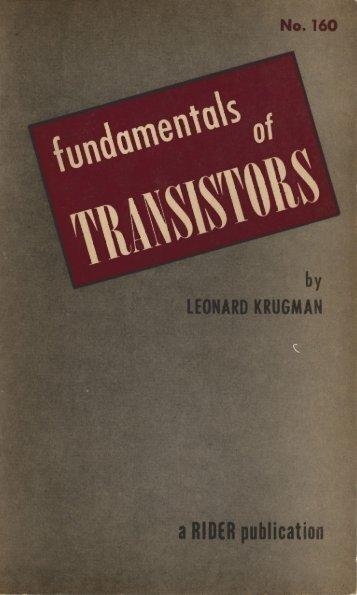 Fundamentals of transistors - Krugman - tubebooks.org