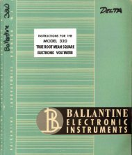 Ballantine 320 True-RMS voltmeter - tubebooks.org