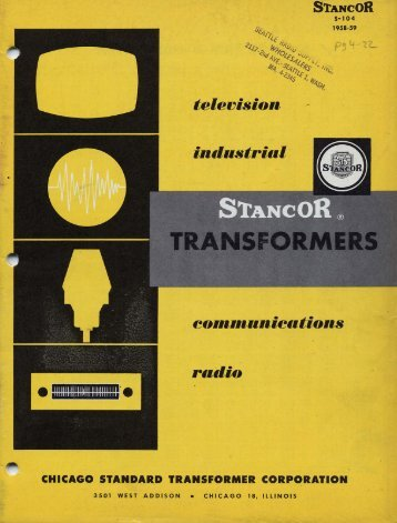 1959 Stancor transformers catalog - tubebooks.org