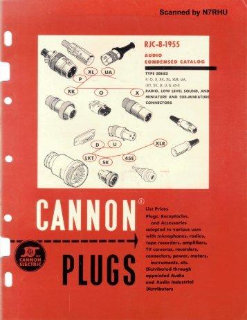 Cannon audio connector catalog RGC-8 - tubebooks.org