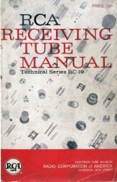 1959 RCA RC-19 Tube Manual - tubebooks.org