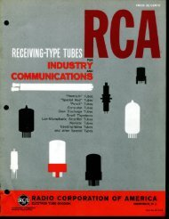 1960 Receiving Type Tubes for Industrial and ... - tubebooks.org