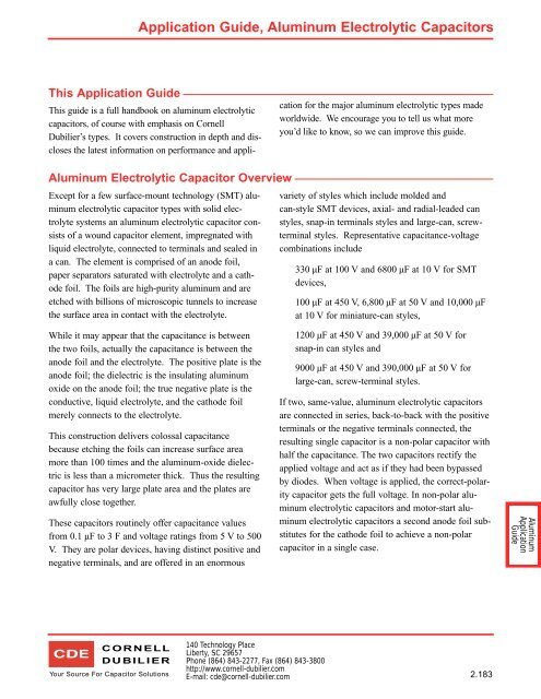 Construction Of An Aluminum Electrolytic Capacitor Manual Guide