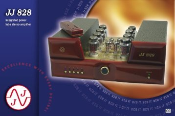 JJ 828 Integrated power tube stereo amplifier - Tubeprofi