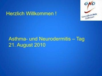 Rolle der Allergene bei Asthma - Gesundheitsnetz Osthessen